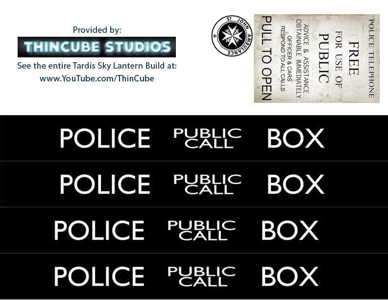 picture relating to Tardis Sign Printable called Tardis ThincUbe